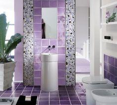 banheiro lilás...