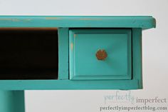 See the new Chalk Paint color Florence at perfectly imperfect.  See how to paint furniture with chalk paint.