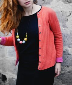 Geometric Necklace / Boho Necklace / Wooden Brass by BlueBirdLab, $42.00