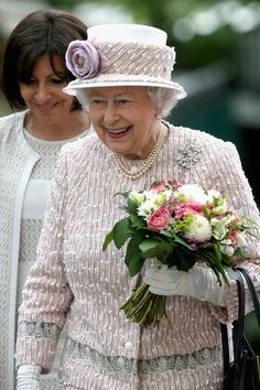 Queen Elizabeth II visits Paris Flower Market as part of the visit to France to attend the 70th Anniversary of D-Day.