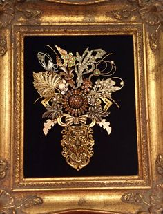 Flower jewelry art creation by Leslee Martin