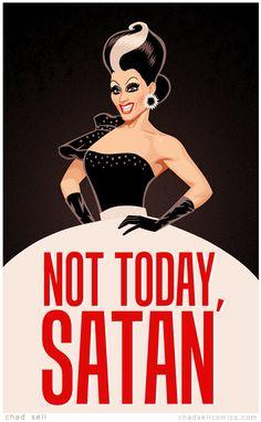 Bianca Del Rio by Chad Sell #NotTodaySatan