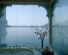 From a palace in the middle of the lake in Rajasthan to a resort on the edge of a cliff in Kovalam, we list out the 50 best places to stay in India with stunning water facing views. Hotels And Resorts, Best Hotels, Luxury Hotels, Udaipur India, Jaipur, Floating Hotel, Asia, Leading Hotels, Exterior