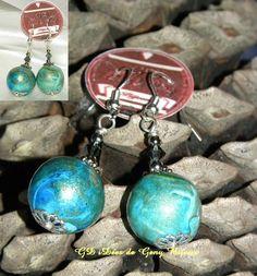 Boucles d'oreilles BLUE SUMMER    https://www.facebook.com/#!/pages/GD-iD%C3%A9es-de-Geny-Bijoux-et-sur-gdideesdegenycanalblogcom/112320158883289  http://gdideesdegeny.canalblog.com/