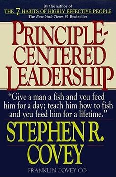 Principle Centered Leadership by Stephen R. Covey  How do we as individuals and organizations survive and thrive amid tremendous change? Why are efforts to improve falling so short in real results despite the millions of dollars in time, capital, and human effort being spent on them? How do we unleash the creativity, talent, and energy within ourselves and others in the midst of pressure? Is it realistic to believe that balance among personal, family, and professional life is possible?