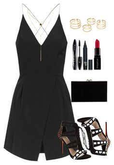 """Untitled #269"" by noelleandrews ❤ liked on Polyvore featuring Topshop, Carvela Kurt Geiger, Lancôme, Smashbox and Charlotte Olympia"