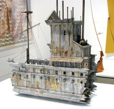 Exhibition at Oakland Museum of California achieves liftoff. Miniature Fairy Gardens, Miniature Houses, Oakland Museum, Cardboard Model, Old Abandoned Buildings, Bokashi, Fantasy Model, Steampunk House, Building Art