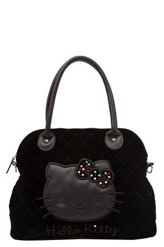 45b9856b45 Loungefly - Hello Kitty Velvet Stud and Bow Purse Hello Kitty Handbags