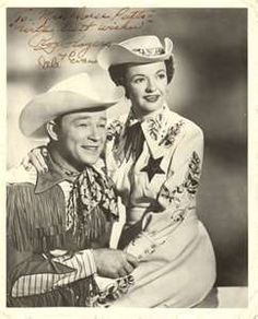 Roy Rogers and Dale Evans - two of Seth's favorite people. Even got him a replica hat of Roy's when he was four.