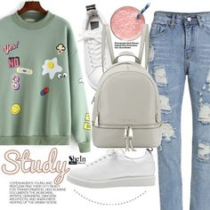 School day by pokadoll on Polyvore featuring MICHAEL Michael Kors, Hedi Slimane, Sheinside and shein