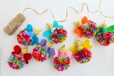 Raising up Rubies: pompom fairy garland ... ♥