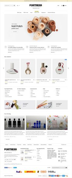 Fortress is a modern and elegant #Magento 2 & 1 Theme for multipurpose #cosmetics #perfume shop eCommerce website with 9 stunning homepage layouts download now➩ https://themeforest.net/item/fortress-multipurpose-responsive-magento-2-and-magento-1-theme/17174990?ref=Datasata