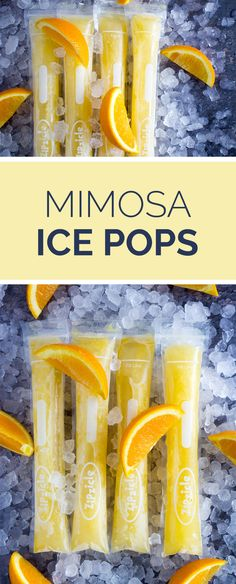 Mimosa Ice pops are your favorite childhood Summer treat, but with an adult spin on it! Super refreshing and tangy popsicle. Ice Pop Recipes, Alcohol Drink Recipes, Popsicle Recipes, Chard Recipes, Punch Recipes, Alcoholic Popsicles, Alcoholic Drinks, Cocktails, Dessert