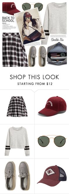 """""""Back To School"""" by shoaleh-nia ❤ liked on Polyvore featuring The Upside, Ray-Ban, Hollister Co., Nana' and The North Face"""