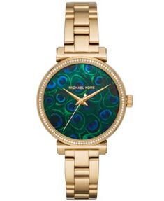 c867967e0 1/2019 $250 ($173.99) Women's Sofie Gold-Tone Stainless Steel Bracelet Watch