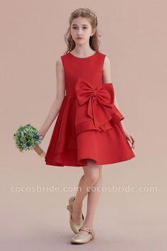 A Line Flower Girl Dress&Knee Length Flower Girl Dresses Prom Dresses Uk, Wedding Party Dresses, Cheap Dresses, Dresses For Sale, Dresses Online, Bridal Dresses, Girls Dresses, Bridesmaid Dresses, Simple Flower Girl Dresses