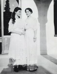 Marie and Olga Romanov from the last royal family of Russia.