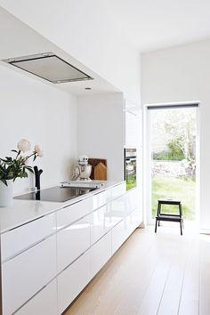 inspiration for Garage Mini Kitchen White high gloss #kitchen #interiordesign