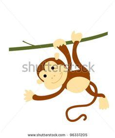 cartoon monkey clip art | Cute Monkey With Banana - Free Clip Art ...