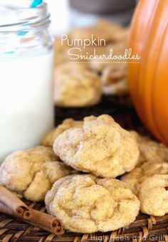 Pumpkin Snickerdoodles! This is the perfect cookie. #recipe #fall #dessert http://www.highheelsandgrills.com/2013/09/pumpkin-snickerdoodles.html