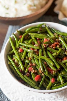 Christmas Green Beans Are Dressed Up With Pimentos And Chopped Pecans That Are Caramelized In Butter And Honey A Simple Side Dish To Complete Your Dinner