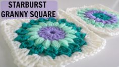 How to Crochet a Starburst Granny Square, video tute, thanks so xox☆ ★ https://www.pinterest.com/peacefuldoves/