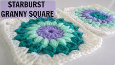 How to Crochet a Starburst Granny Square, video tute, thanks so xox☆ ★   https://www.pinterest.com/peacefuldoves/