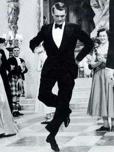 """Cary doing a jig in """"Indiscreet"""""""