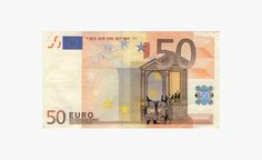 hacked euro banknotes depict economic and social instability