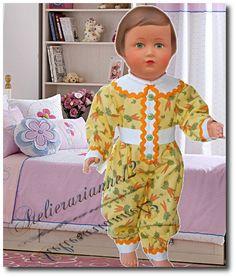 Vêtement MODES ET TRAVAUX novembre 1951, poupée 40 cm, Marie-Françoise et autres ❤ Françoise ❤ en pyjama Modes et Travaux - novembre 1951: 19,90 EUR