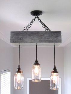 fabriquer-suspension-design-original-asymetrique-bocaux-mason-chaine-metal-cache-piton-bois fabriquer une suspension