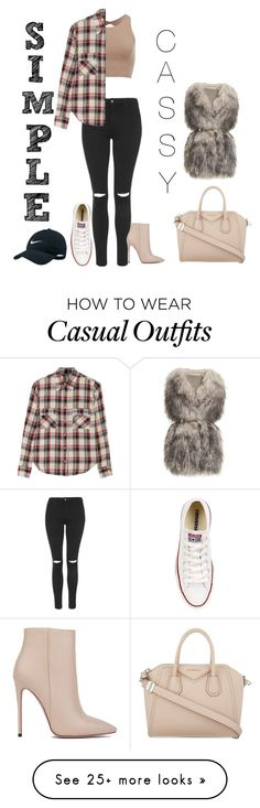 """""""Heels or casual #3"""" by matildaemonet on Polyvore featuring mode, Topshop, Akira Black Label, Étoile Isabel Marant, Converse, Givenchy, PINGHE et NIKE"""