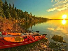 Kaayaks on Isle royale national park Michigan - #kayak #kayaking