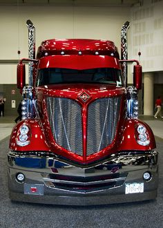 The Great American Trucking Show, Dallas, Texas, If I was gonna have a big rig, this'd be the one! Big Rig Trucks, Semi Trucks, Cool Trucks, Pickup Trucks, Truck Drivers, Mack Trucks, Custom Big Rigs, Custom Trucks, Custom Cars