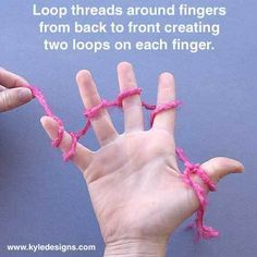 Learn how to finger nit!!!!!!!!!!!!!