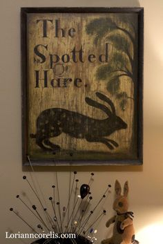 The Spotted Hare: Sign by Heidi Howard.