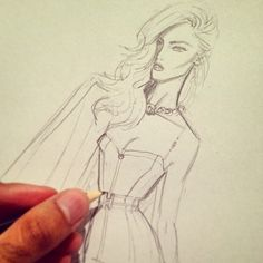 Hayden Williams Fashion Illustrations: How it all begins…..