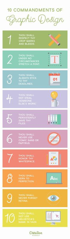 Thou shall follow the 10 commandments of graphic design or face the consequences!