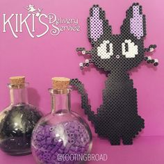 Jiji What's a witch without her black cat? I absolutely ADORE Kiki's Delivery Service. It was my very first Studio Ghibli film! #perler #perlers #perlerbead #perlerbeads #perlerbeadart #perlerbeadcreations #perlerart #perlercreations #pixel #pixels #pixelart #pixelbeads #8bit #8bitart #8bits #nerd #geek #justnerdthings #blackcatappreciationday #blackcat #studioghibli #anime #cartoon #kikisdeliveryservice #hayaomiyazaki #witch #jiji #cat #magic #theperlerwitch