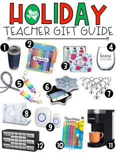 Wondering what to get your child's teacher for the holidays? This guide is full of #allthethings teachers love!