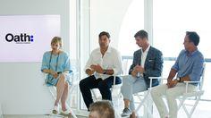 Aus AOL und Yahoo ist eins geworden - das lässt sich in Cannes nicht übersehen. Oath, die Dachmarke des neu aufgestellten Konzerns, prangt in riesigen Buchstaben an der Fassade des Majestic Hotels, Lichtinstallationen symbolisieren die Verschmelzung.
