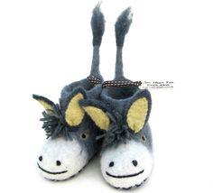 31970cc264a Darci the Donkey Baby Felt Slippers - Lush Labels
