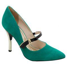 Sapato em couro - Sapatos - Scarpin - ESMERALDA/PRETO 13-1302 - Coleção Inverno 2013 Calçados Femininos Via Marte