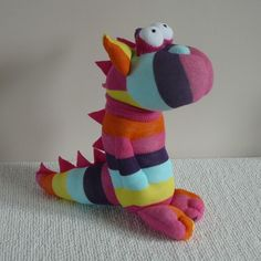 Plush Sock Animal - Dino,Dinosaur, sock doll,stuffed animal,sock sculpture