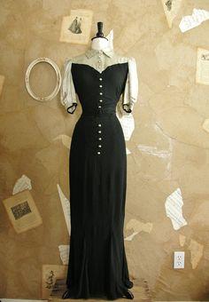 Vintage 1930s Lady Mystery Dress by VeryVintageStore on Etsy