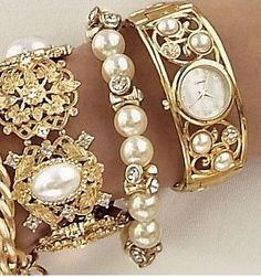 golden pearly stack ♥✤ | Keep the Glamour |
