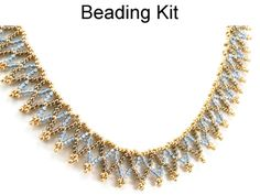 Netted Stitch Necklace Easy Beginner Jewelry Making Beading Tutorial Pattern Kit