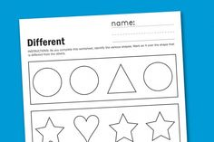 'Different' worksheet