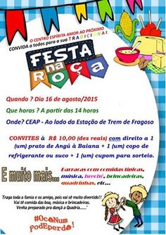O Centro Espírita Amor ao Próximo convida pra o seu tradicional Festa na Roça - Magé - RJ - http://www.agendaespiritabrasil.com.br/2015/08/08/o-centro-espirita-amor-ao-proximo-convida-pra-o-seu-tradicional-festa-na-roca-mage-rj/