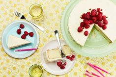 Vanilla-Buttermilk Cake With Raspberries and Cream Cheese Frosting